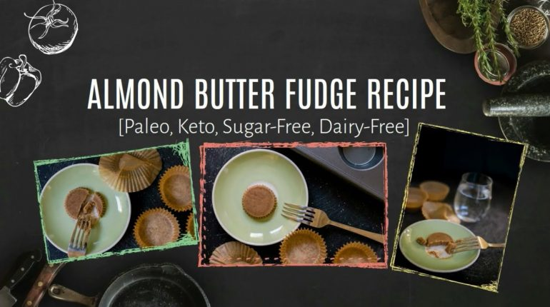 Almond Butter Fudge Keto Paleo Recipe