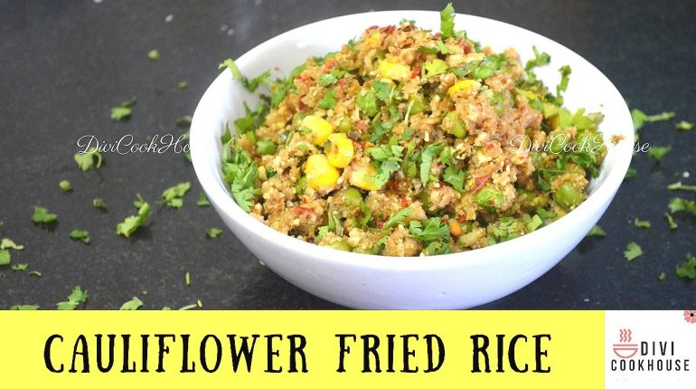 Cauliflower Fried Rice | Low Carb Paleo Rice Recipe | DiviCookHouse