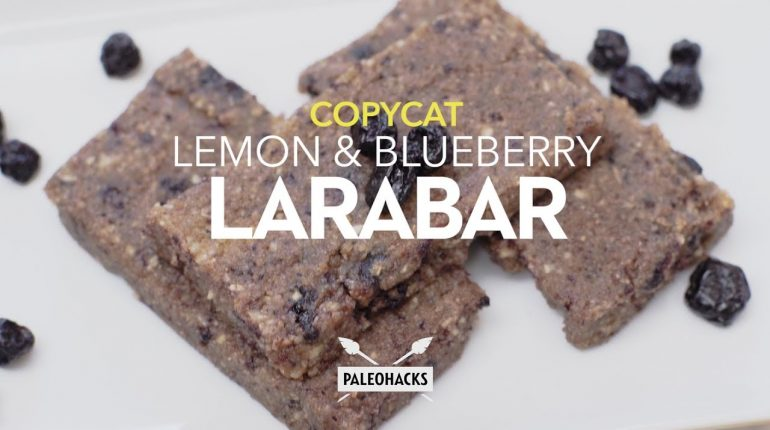Copycat Lemon & Blueberry Larabar | Paleo Recipe