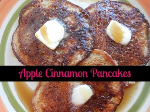 How To Make Organic Apple Cinnamon Pancakes ~ Paleo Recipe