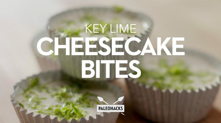 Key Lime Cheesecake Bites | Paleo Recipe