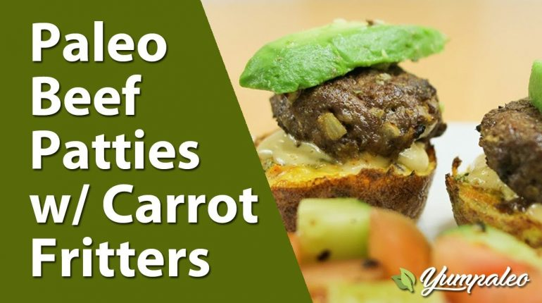 Paleo Beef Patties with Carrot Fritters Recipe