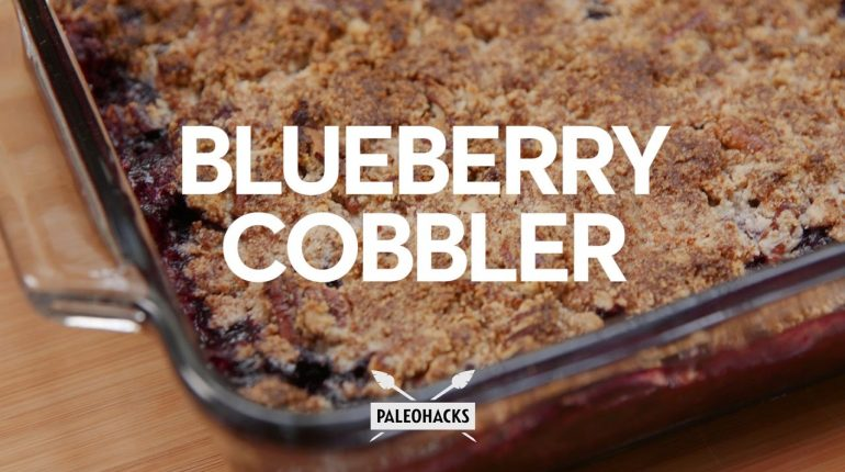 Real Healthy Blueberry Cobbler | Paleo Recipe