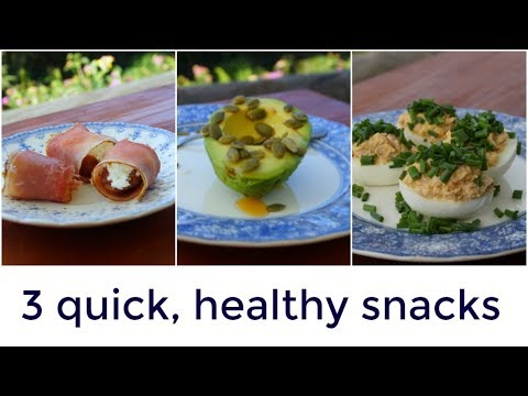 3 easy, healthy snack ideas | Paleo recipes