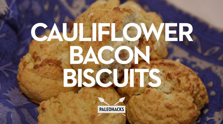 Cauliflower Bacon Biscuits | Paleo Recipe
