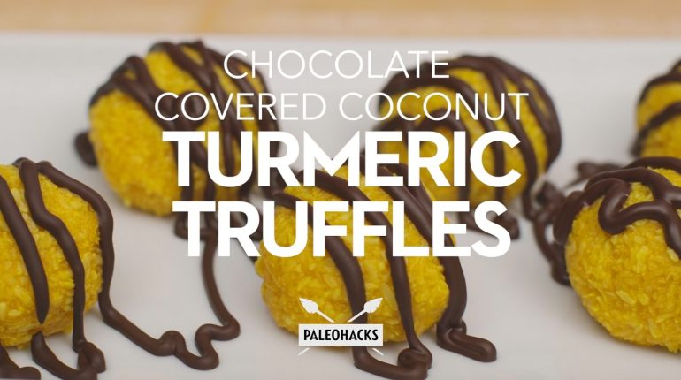 Chocolate Turmeric Truffles with Coconut Oil | Paleo Recipe