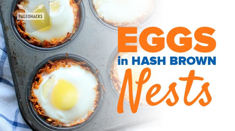 Eggs in Hash Brown Nests | Paleo Recipe