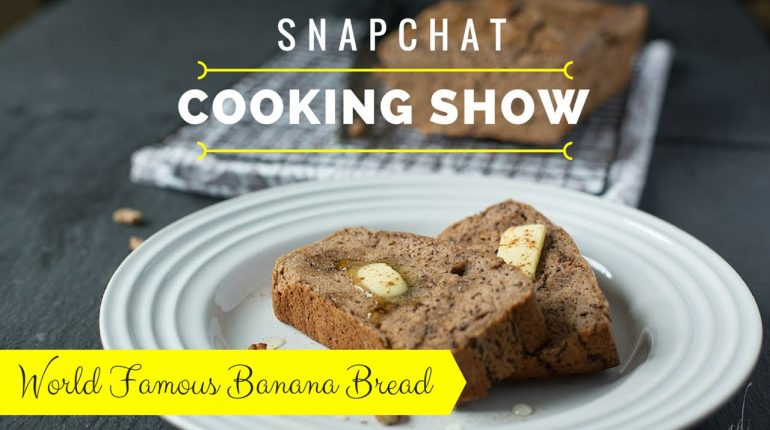 Paleo Banana Bread in a Blender | Snapchat Cooking Show
