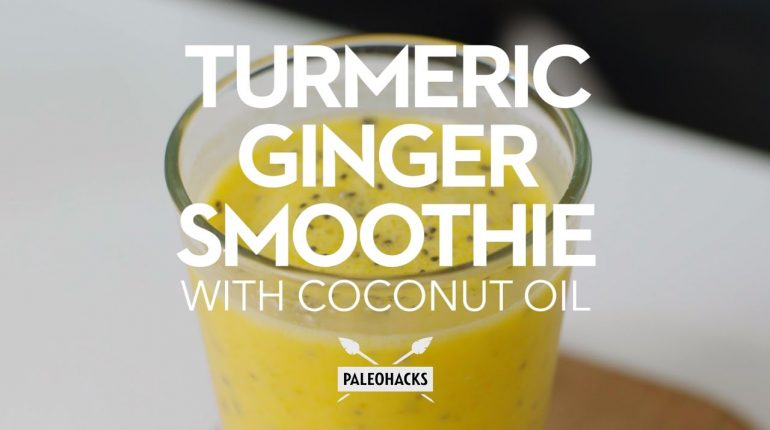 Turmeric Ginger Smoothie with Coconut Oil | Paleo Recipe