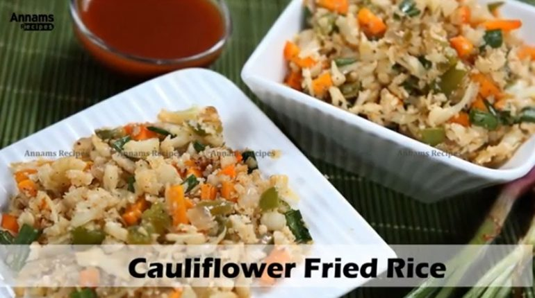 Cauliflower Fried Rice -Paleo Diet Recipe