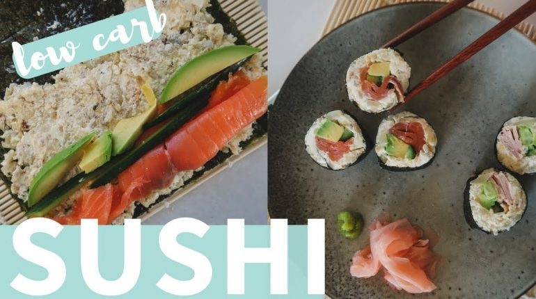 LOW CARB SUSHI ROLLS | Keto + Paleo Recipe (EASY)