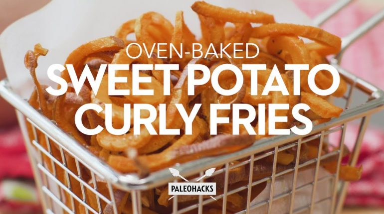 Oven-Baked Sweet Potato Curly Fries | Paleo Recipe