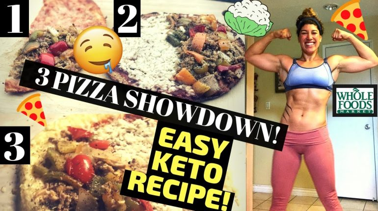 PIZZA SHOWDOWN: 3 Cauliflower Pizzas + EASIEST PIZZA RECIPE (KETO, PALEO, LOW-CARB, LOSE WEIGHT!)