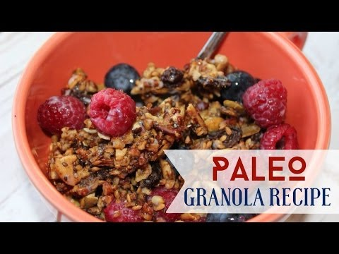 Paleo Granola Recipe | Kid Friendly!