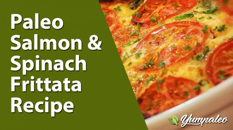 Paleo Salmon & Spinach Frittata Recipe