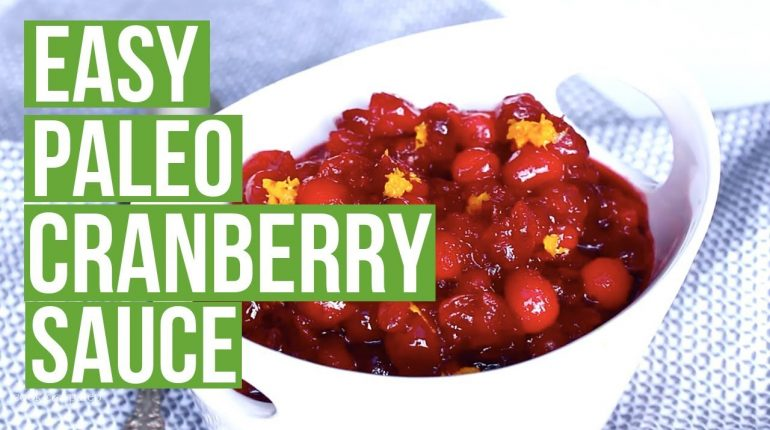 3-Ingredient Paleo Cranberry Sauce | Cook Eat Paleo