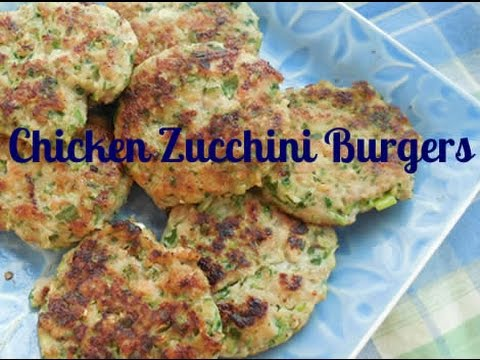 How To Make Zucchini Chicken Burgers Recipe ~ Organic, Paleo & AIP