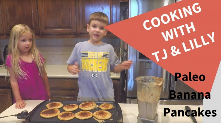Kids Cooking Paleo Banana Pancake Recipe