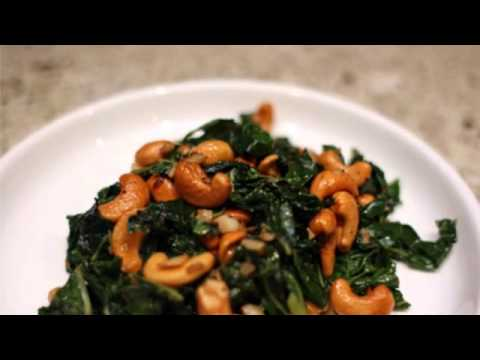 Paleo Recipe Chard and Cashew Sauté