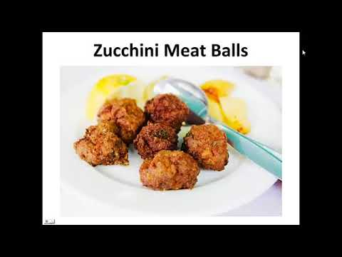 Easy Paleo Recipes   Zucchini Meat Balls By A Former Diabetic