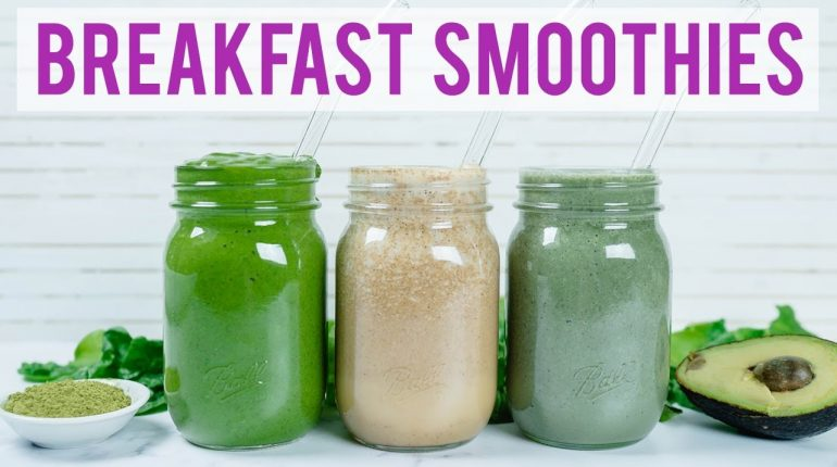 3 Healthy Breakfast Smoothies (Paleo & Low Carb)