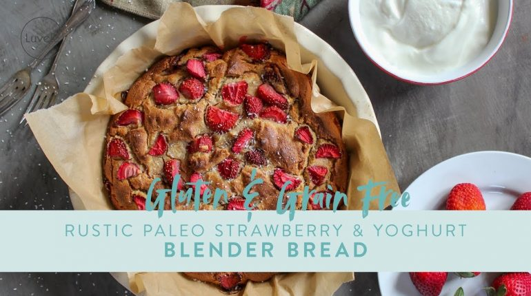 Easy Gluten Free Bread, Paleo Strawberry and Yogurt Blender Bread