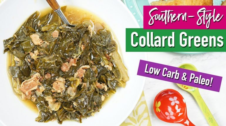 How To Make Healthy Southern-Style Collard Greens (Low Carb, Paleo) | Healthy Dinner Recipes