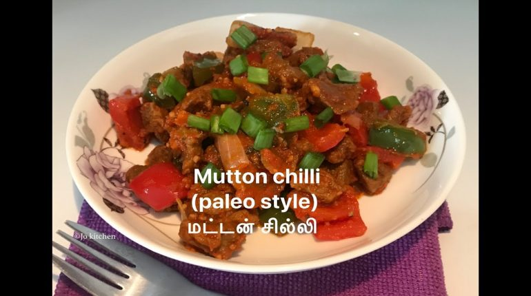 Mutton chilli | paleo / keto mutton chilli recipe in tamil |மட்டன் சில்லி