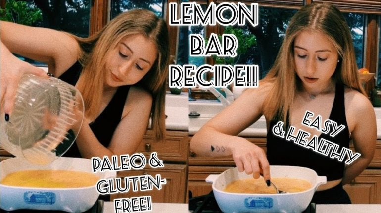 PALEO & GLUTEN-FREE LEMON BAR RECIPE | HEALTHY & EASY!!
