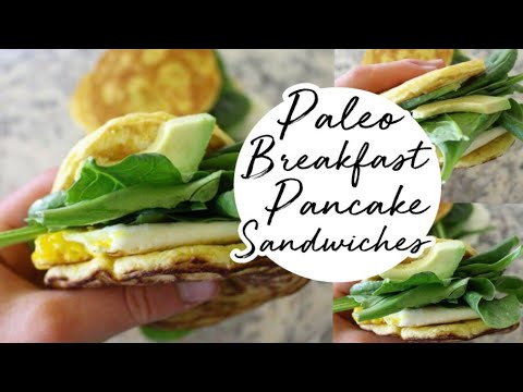 Paleo Breakfast Sandwiches made with Pancakes || Easy Recipe