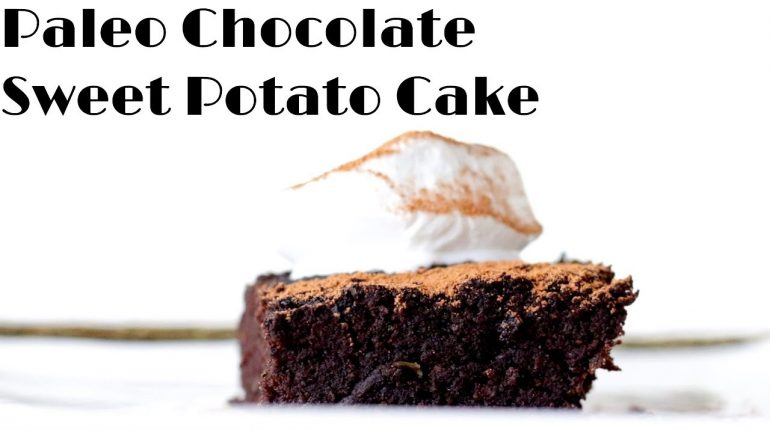 Paleo Chocolate Cake with Sweet Potato and Medicinal Mushrooms