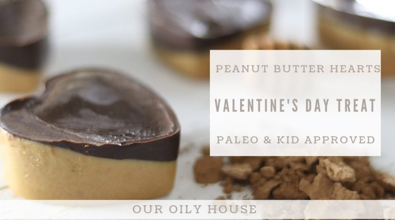 Paleo Chocolate Peanut Butter Cups | Healthy Valentine's Day Treat