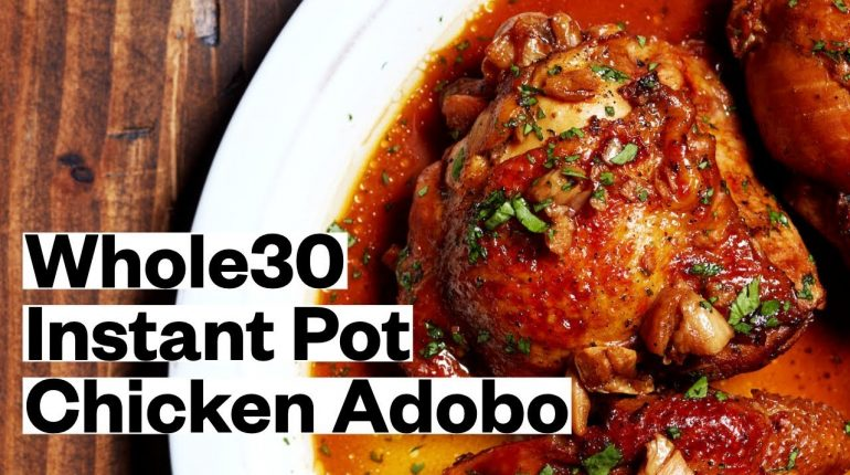 WHOLE30® Instant Pot Chicken Adobo (Keto, Paleo) | Thrive Market