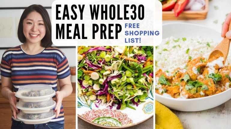 Whole30 Meal Prep + Shopping List | Whole30 Recipes