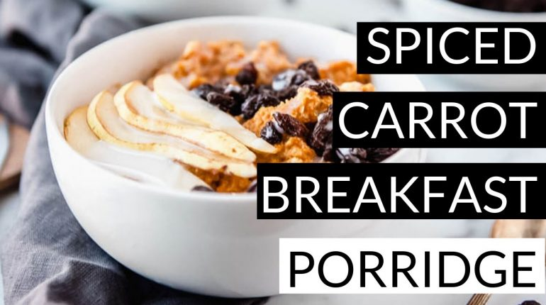 AIP Breakfast Porridge - Spiced Carrot (Paleo, Whole30, and Egg-free)