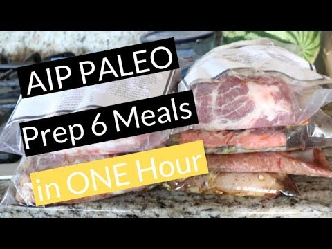 AIP Paleo Meal Prep |  6 Freezer Meals In LESS Than One Hour