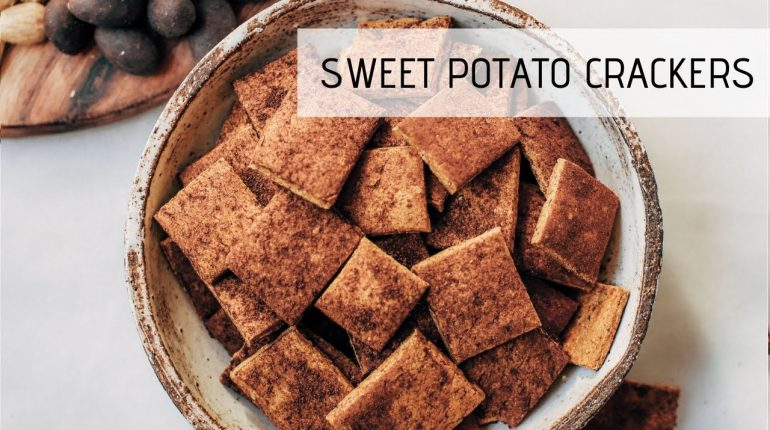 Crackers Made With Sweet Potatoes | Paleo Cracker Recipe