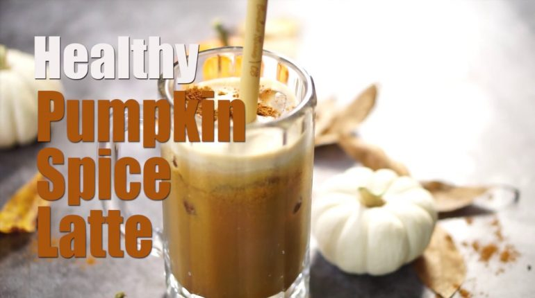 Healthy Vegan Pumpkin Spice Latte (Paleo, Dairy-Free, Naturally Sweetened)