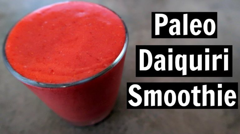 Paleo Daiquiri Smoothie Recipe | Easy Non Alcoholic Drinks