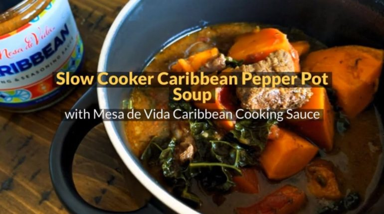 Slow Cooker Pepper Pot Soup Recipe | Whole30, Paleo, Easy!