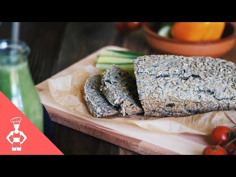 Grain-free Vegan Chia Seeds Bread / Low Carb / Paleo / Gluten-free