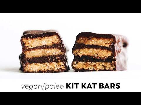 Homemade Kit Kat Bars // vegan, gluten-free, paleo
