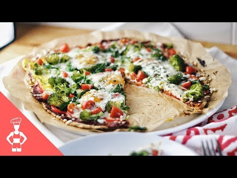 Low Carb Vegetarian Pizza / Gluten-free / Grain-free / Paleo