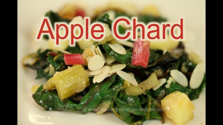 Paleo Swiss Chard Recipe With Apples, Sliced Almonds | Rockin Robin Cooks