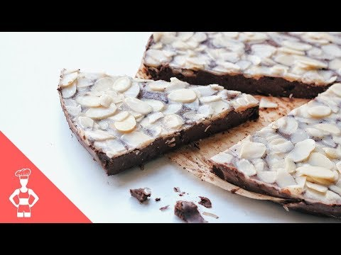 Raw Dark Chocolate Paleo Cake / Low Carb / Gluten-free / Keto