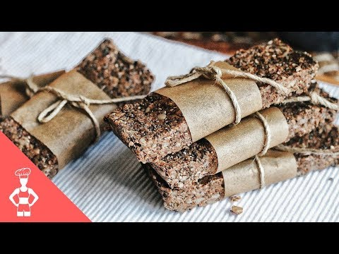 Raw Paleo Protein Bars / Grain-free / Gluten-free / Low Carb
