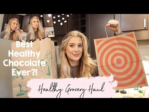 HUGE HEALTHY GROCERY HAUL- EASY PALEO RECIPE IDEAS FROM TARGET + WHOLE FOODS